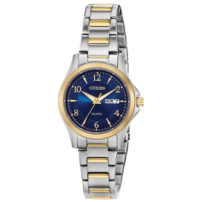 Picture of Citizen Ladies' Quartz Two-Tone Watch with Blue Dial