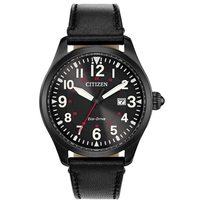 Picture of Citizen Eco-Drive Garrison Watch Black Dial & Strap