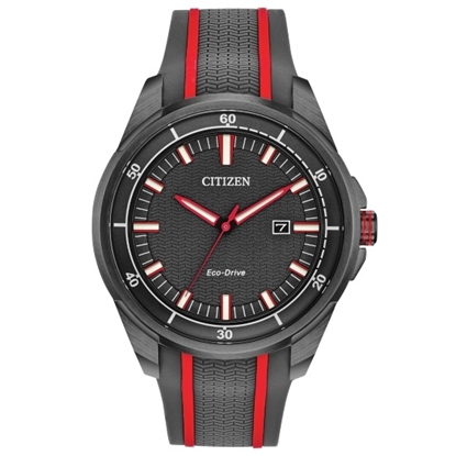 Picture of Citizen Drive Axiom Watch with Black & Red Rubber Strap