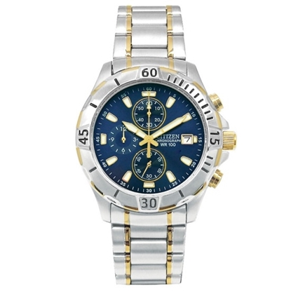 Picture of Citizen Men's Quartz Two-Tone Watch with Blue dial