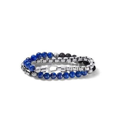 Picture of Bulova Classic Jewelry Men's Double Wrap Chain/Bead Bracelet