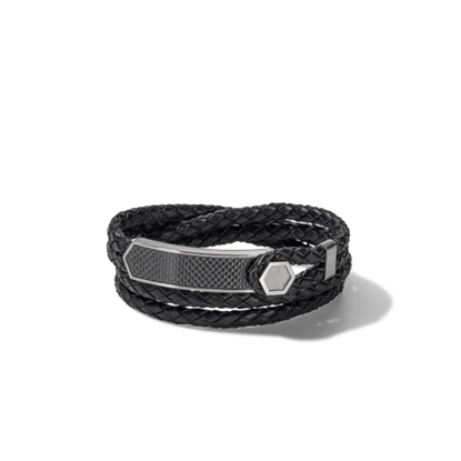 Picture of Bulova Precisionist Jewelry Braided Leather Wrap Bracelet