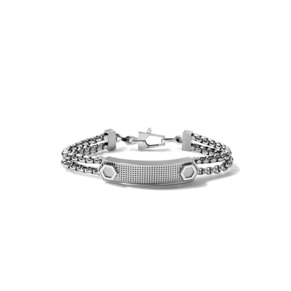 Picture of Bulova Precisionist Jewelry Men's ID Link Bracelet