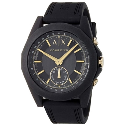 Picture of Armani Exchange Drexler Hybrid Smartwatch with Black Strap
