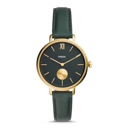 Picture of Fossil Kalya Green Leather Watch with Gold-Tone Case