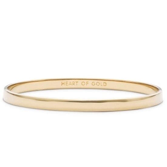 Picture of Kate Spade Idiom Bangle - Heart Of Gold - Gold