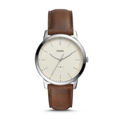 Picture of Fossil The Minimalist 3H Watch with Brown Leather Strap