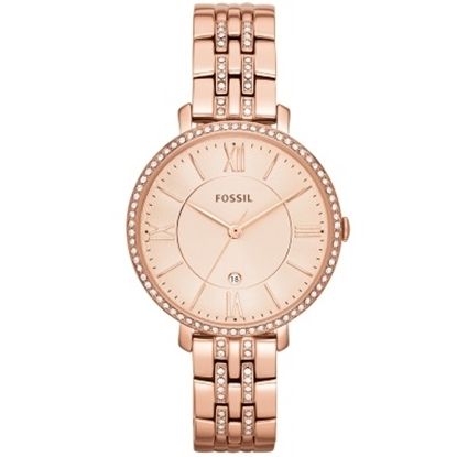 Picture of Fossil Jacqueline Rose Gold-Tone Three-Hand Date Watch