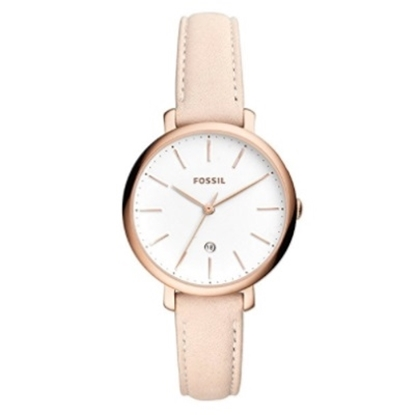Picture of Fossil Jacqueline Three-Hand Pastel Pink Leather Watch