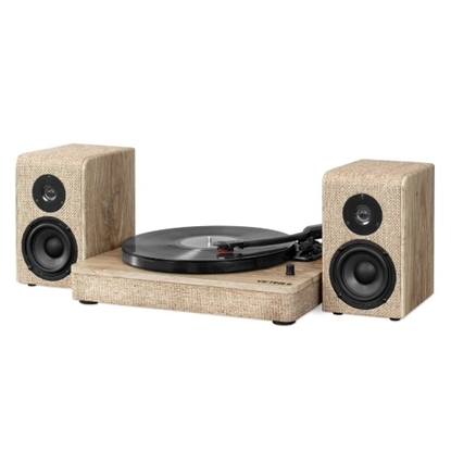 Picture of Victrola Wood/Linen Bluetooth® Record Player