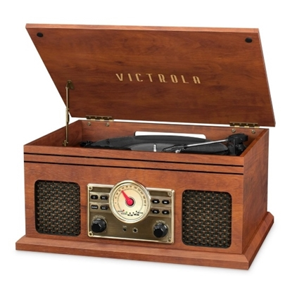 Picture of Victrola 4-in-1 Nostalgic Bluetooth Record Player with Radio