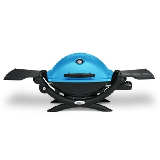 Picture of Weber Q® 1200™ LP Gas Grill w/ Portable Cart - Blue