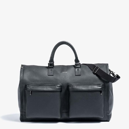 Picture of Hook & Albert Leather Garment Weekender - Black