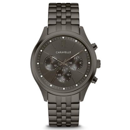 Picture of Bulova Caravelle Men's Black-Tone Stainless Steel Chrono Watch