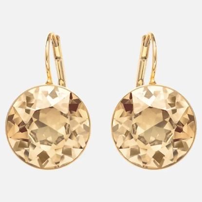 Picture of Swarovski Bella Golden Shadow Pierced Earrings