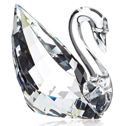 Picture of Swarovski Faceted Crystal Swan Figurine