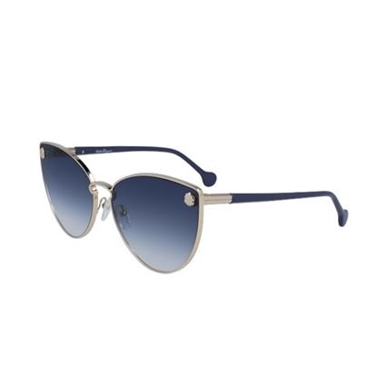 Picture of Salvatore Ferragamo Ladies' Cateye Sunglasses - Gold/Blue