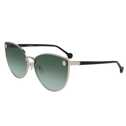 Picture of Salvatore Ferragamo Ladies' Cateye Sunglasses - Gold/Green