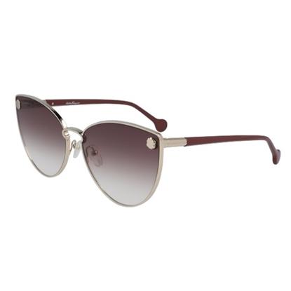 Picture of Salvatore Ferragamo Ladies' Cateye Sunglasses - Gold/Brown
