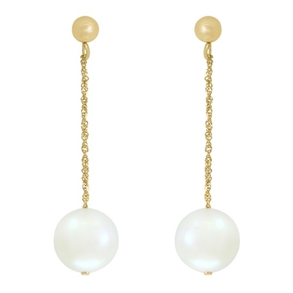 Picture of Lali 14K White Gold White Fresh Water Pearl Earrings