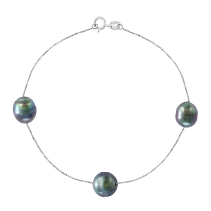 Picture of Lali 14K White Gold Tahitian Pearl Bracelet