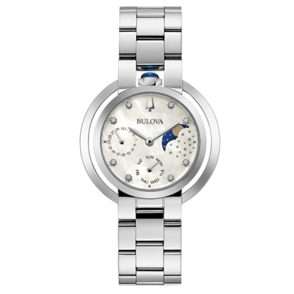Picture of Bulova Rubaiyat Stainless Steel Watch w/ Mother-of-Pearl Dial