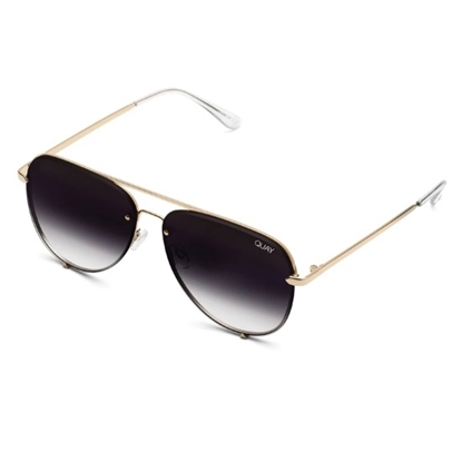 Picture of Quay HIGH KEY MINI Rimless - Gold with Black Fade Lens