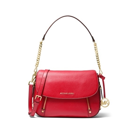 Picture of Michael Kors Bedford Legacy Medium Flap Shoulder - Bright Red