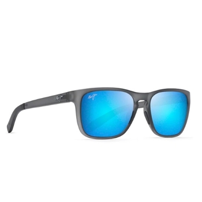 Picture of Maui Jim Longitude - Matte Grey with Blue Hawaii Lens