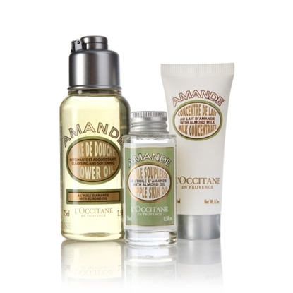 Picture of L'Occitane Almond Deluxe Travel Trio