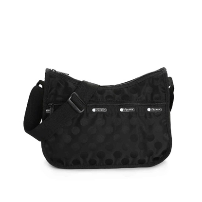 Picture of LeSportsac Candace Classic Hobo - Black Polka Dot