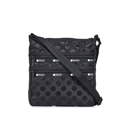 Picture of LeSportsac Candace N/S Crossbody - Black Polka Dot
