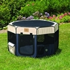 Picture of Gen7Pets PetMate Precision Soft-Side Small Play Yard- Navy/Tan