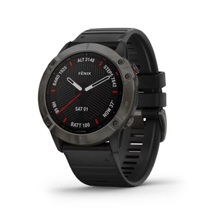 Picture of Garmin fenix® 6X Sapphire - Carbon Gray with Black Band
