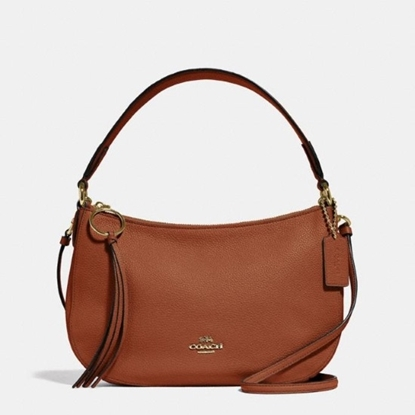 Picture of Coach Leather Sutton Crossbody - Gold/1941 Saddle