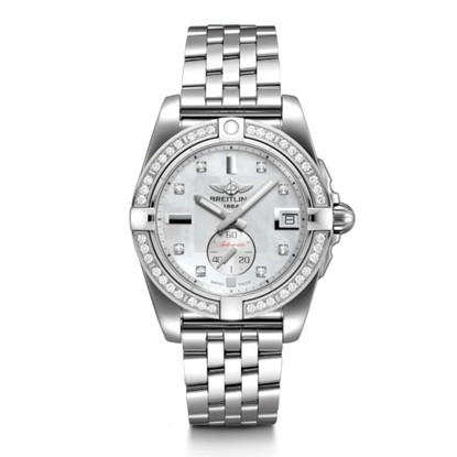 Picture of Breitling Galactic 36 Auto - Steel with MOP Diamond Dial/Bezel