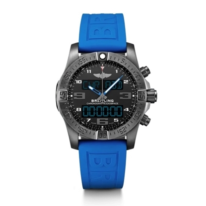 Picture of Breitling Exospace B55 with Black Dial & Blue Strap