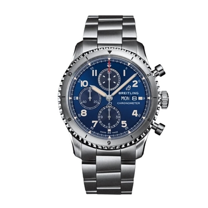 Picture of Breitling Aviator 8 Chrono 43 - Stainless Steel with Blue Dial