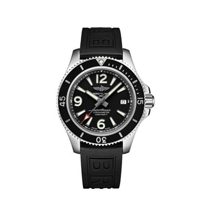 Picture of Breitling Superocean Auto 42 - Black Dial/Folding Buckle Strap
