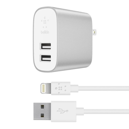 Picture of Belkin BOOST CHARGE 2-Port Charger + Lightning-to-USB-A Cable
