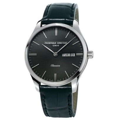 Picture of Frederique Constant Classics Watch w/ Grey Dial & Black Strap