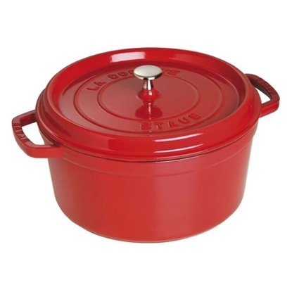 Picture of Staub 7-Qt. Round Cocotte - Cherry