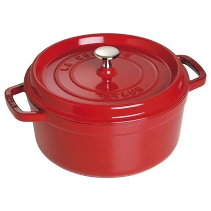 Picture of Staub 4-Qt. Round Cocotte - Cherry