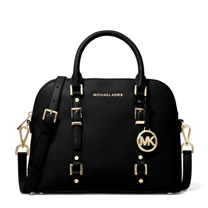 Picture of Michael Kors Bedford Legacy Medium Dome Satchel - Black