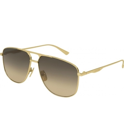 Picture of Gucci Gold Aviator with Brown Lens