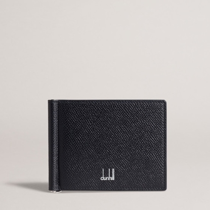 Picture of Dunhill Cadogan 6-Card Money Clip Billfold - Black