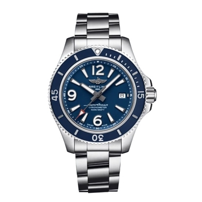 Picture of Breitling Superocean Auto 42 with Blue Dial & Steel Bracelet