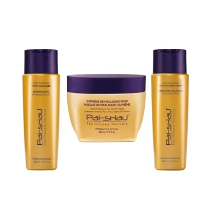 Picture of Pai-Shau Replenishing Hair Cleanser, Conditioner, and Mask