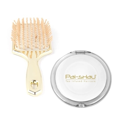 Picture of Pai-Shau Gold Paddle Brush and Mirror