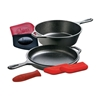 Picture of 3.2-Quart Cast-Iron Combo Cooker with Hot Handle Holders and Pan Scrapers